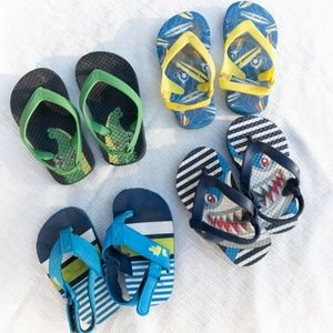 Other - Lot of 4 baby toddler size 5 flip flops! (L)